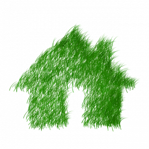energy savings green house made of grass
